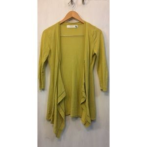 Anthropologie sparrow lime green cardigan